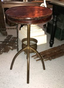 Industrial Adjustable, Iron Base Table