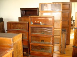 Some of the Un-refurbished Globe Wernicke Bookcases in Inventory