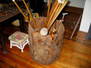 Hand-made hornbeam tree storage bin