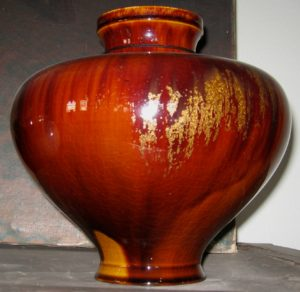 Vase in the manner of Pewabic pottery