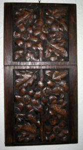 Pair of Hand-carved wood panels