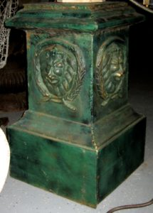 One of a Pair of Large Iron Garden Pedestals