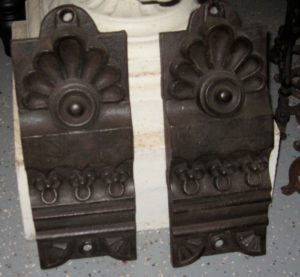 Pair of Cast Iron Architectural Embellishments