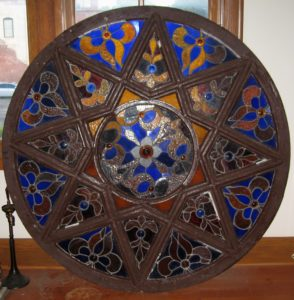 One of 2 Very Large Round Leaded Glass Windows