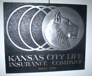 Cast Aluminum Kansas City Life Insurance Sign