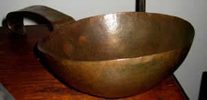 19th Century Maker Signed Copper Scoop