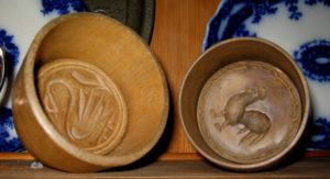 Swan and Rooster Butter Molds