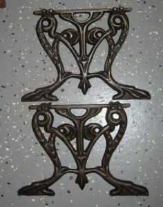 Pair of Cast Iron Stool Supports