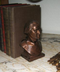 Pair of Copper on Cast Iron Washington Bust Bookends