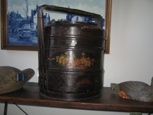 Chinese Lacquered Food Basket