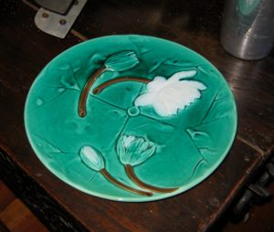 One of a Pair of Majolica Plates