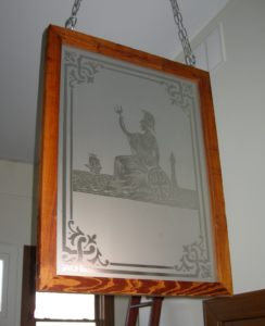 Etched Glass Window From an English Pub