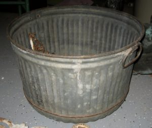 Galvanized Metal Bushel Basket